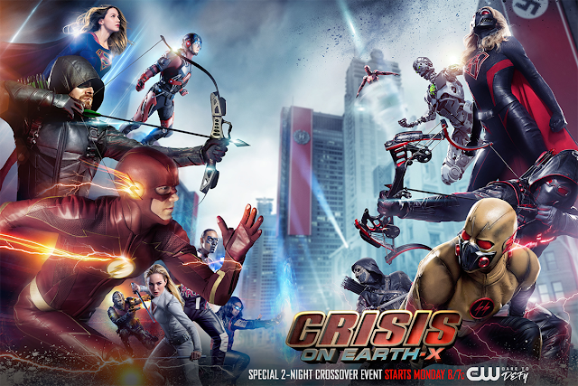 Crisis on Earth X CW DCTV Arrowverse crossover poster