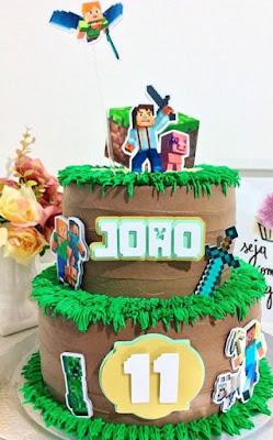 Minecraft: Toppers para Tartas, Tortas, Pasteles, Bizcochos o Cakes para Imprimir Gratis.