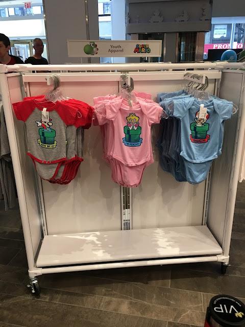 Nintendo NY Super Mario Bros. warp pipe baby outfits Peach Toad