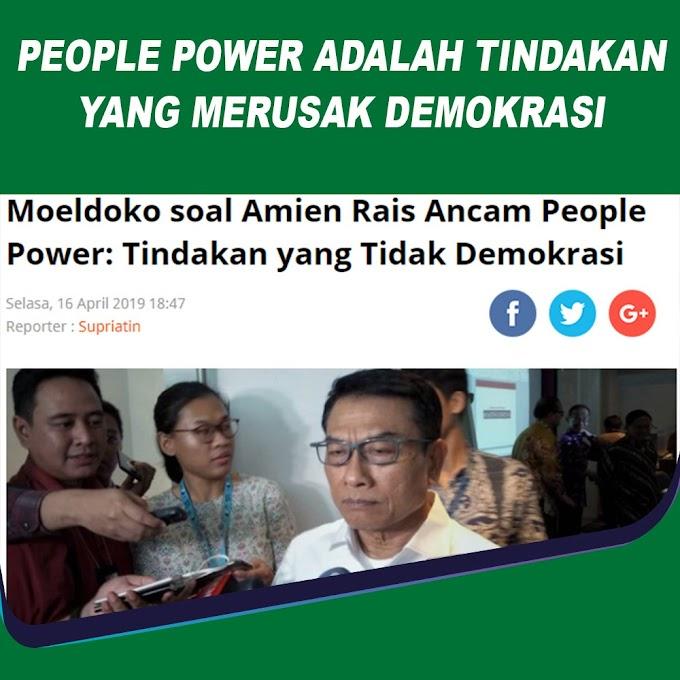 Moeldoko soal Amien Rais Ancam People Power: Tindakan yang Tidak Demokrasi