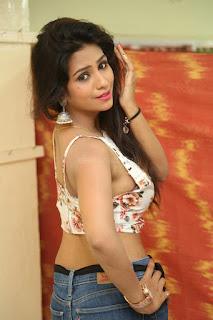 Deekshita Parvathi in a short crop top and Denim Jeans Spicy Pics Beautiful Actress Deekshita Parvathi January 2017 CelebxNext (61).JPG