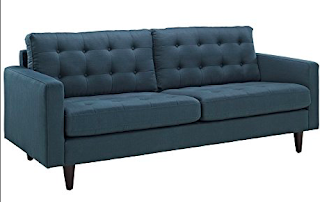 Empress Tufted Fabric Sofa
