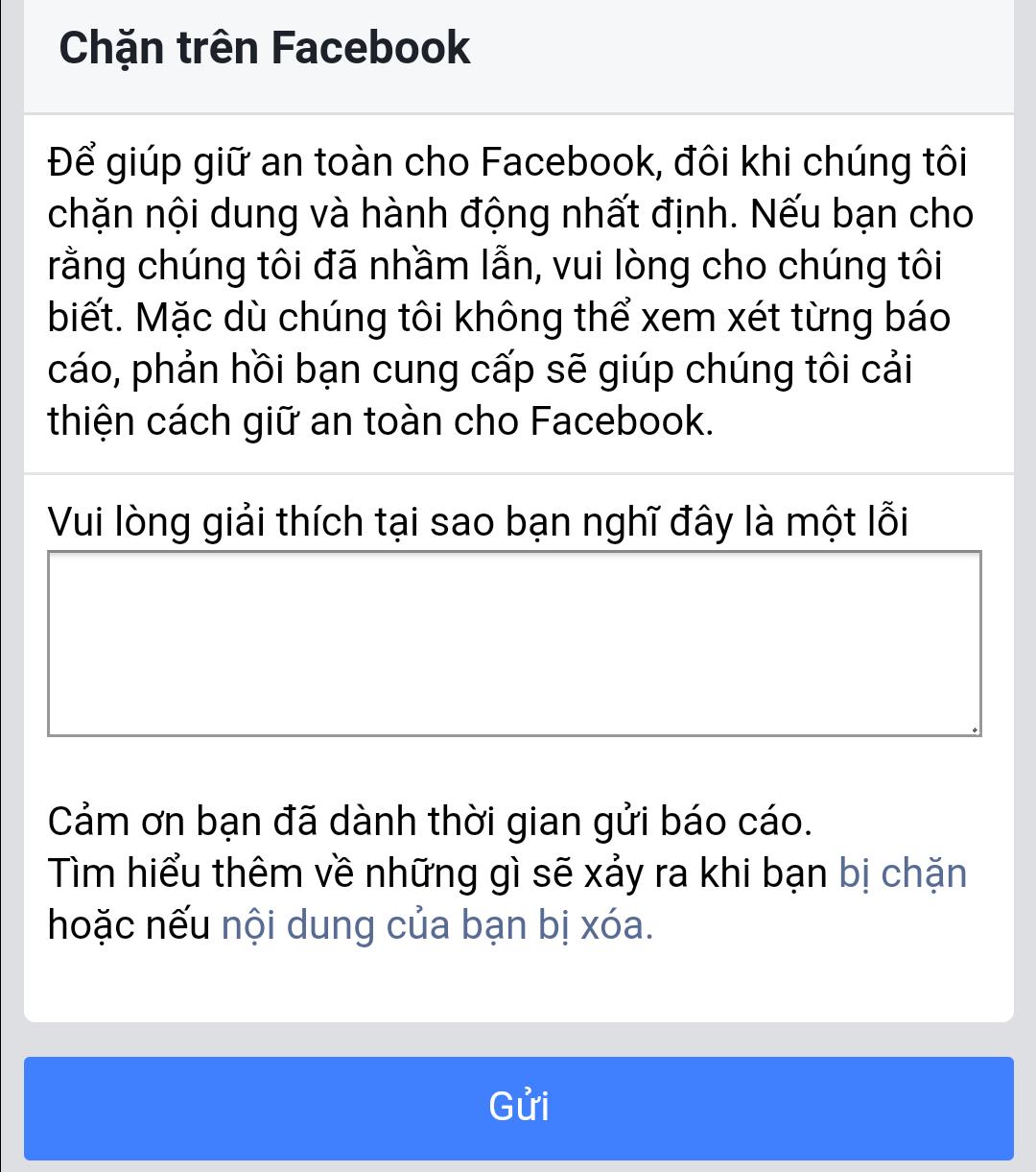 bỏ chặn link web trên facebook