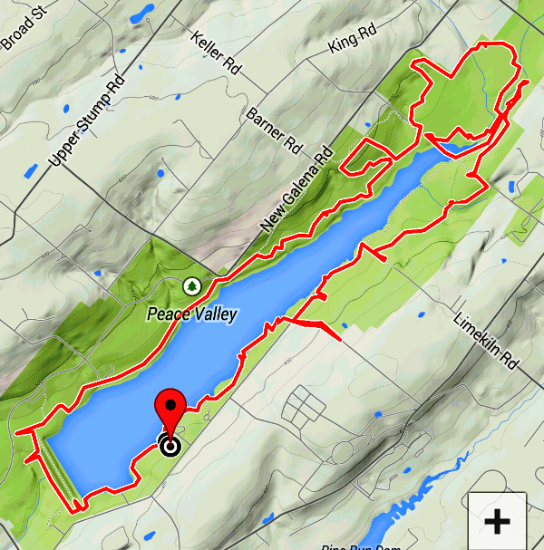 Peace Valley Park Map Southeastern PA Hiking: Peace Valley Park