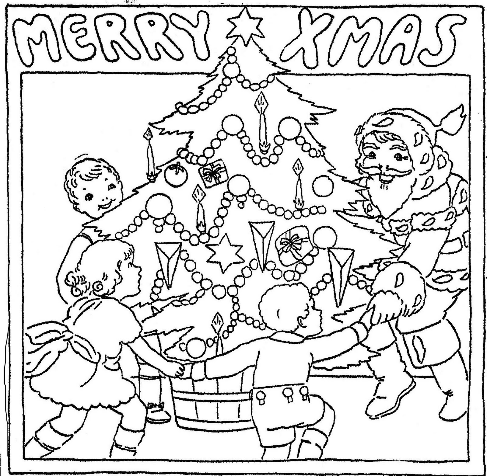 Mostly Paper Dolls Susie May Christmas Coloring Page