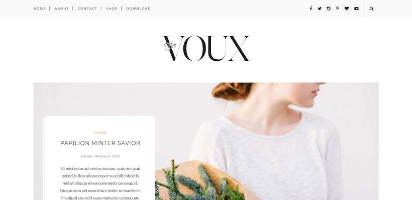 Voux Free Blogger Template