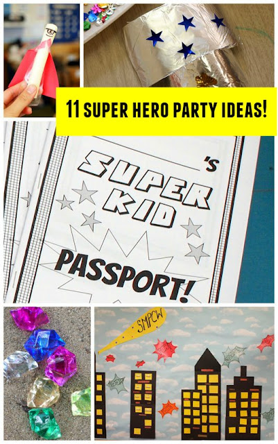 11 Awesome and Easy Super Hero Party Activities and Crafts- Budget friendly and Perfect for Kids of all ages!