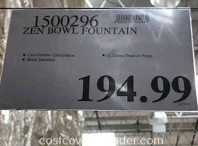 Deal for the Zen Bowl Fountain at Costco