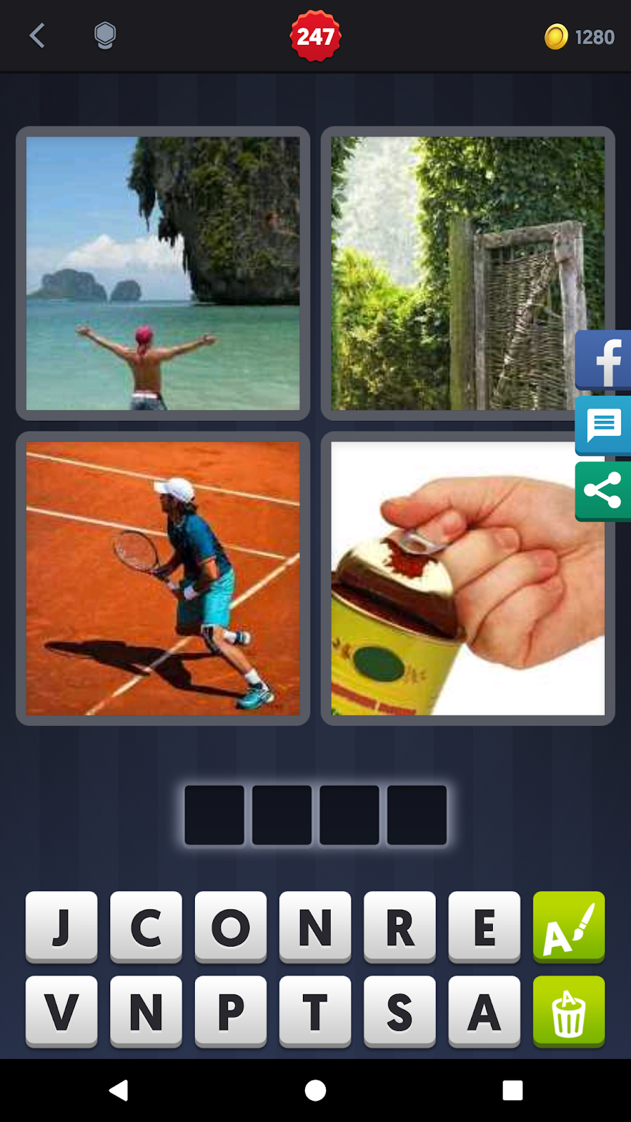 4 Pics 1 Word Answers Solutions Level 247 Open