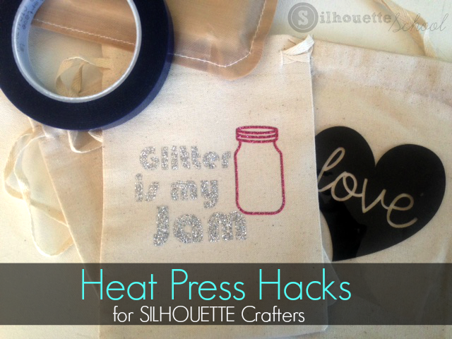 Silhouette Cameo, HTV, Heat Press, heat press hack, silhouette 101