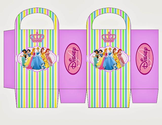 Princesas Disney: Bolsa de Papel para Imprimir Gratis.