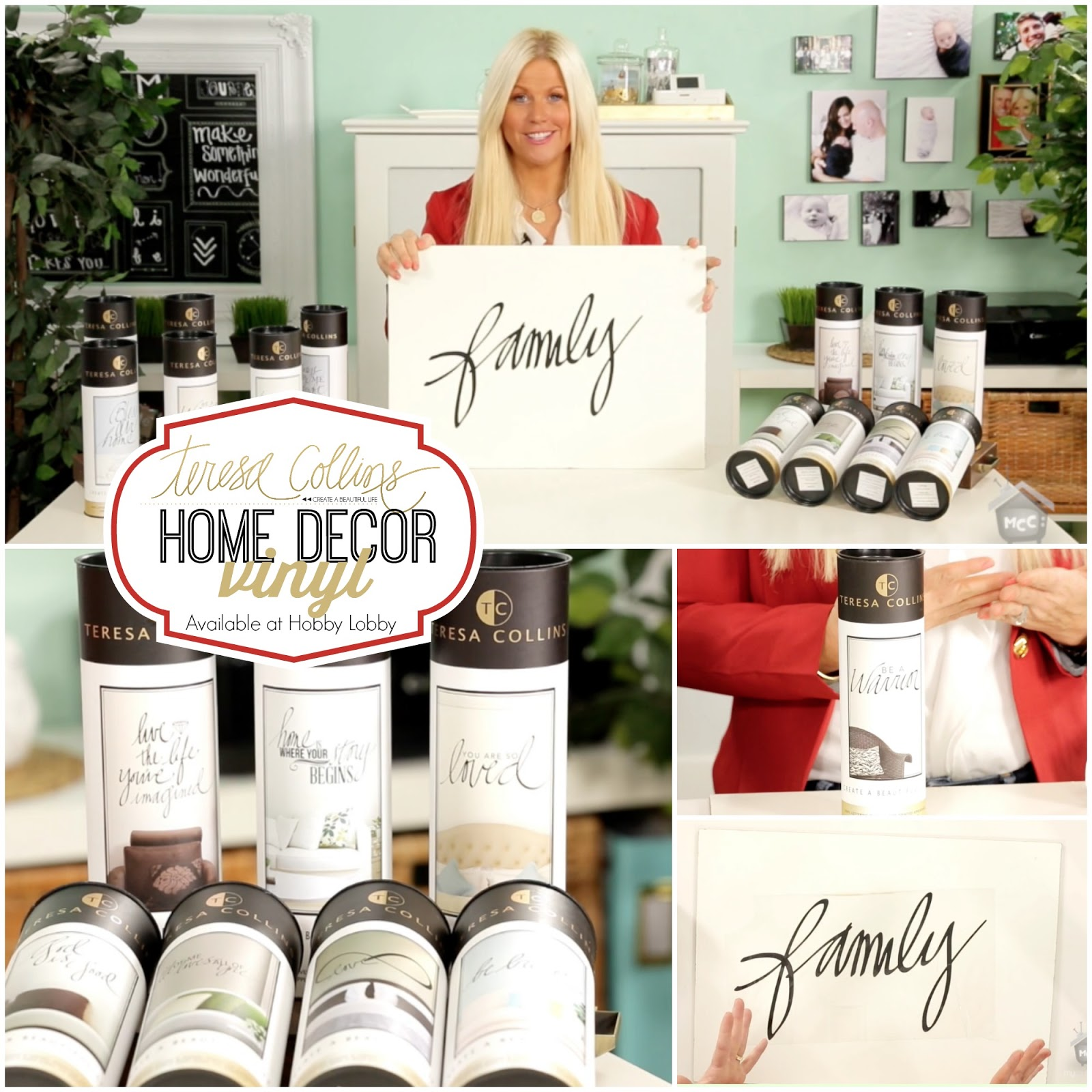 Home Decorating Tips And Tricks: TERESA COLLINS : Home Decor Vinyl Tips & Tricks