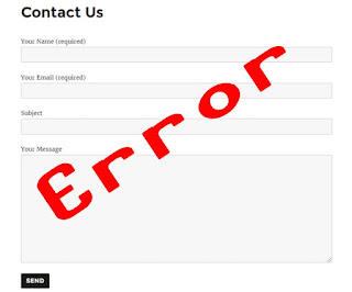 mengatasi contact form error blogger