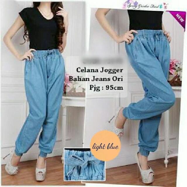 Jual Celana Panjang Celana Jogger Blue Jeans - 12886