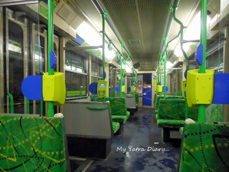 Inside view of Yarra tram rides, Melbourne