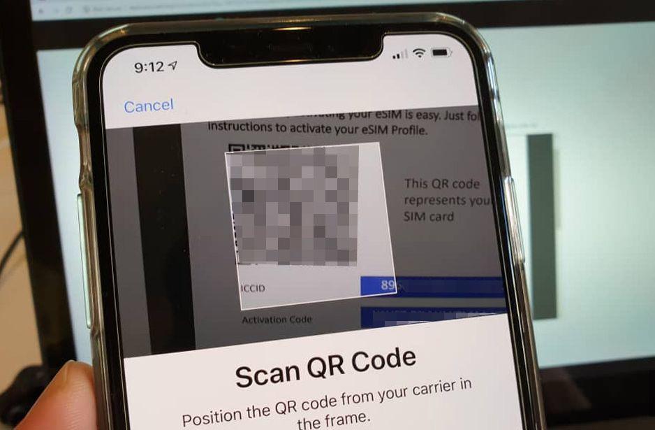 Kod QR untuk aktifkan XOX eSIM