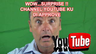 Akhirnya Channel You Tube Di Approve, Review Cuma 20 Hari