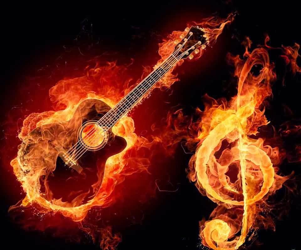 3D Musics Guitar Backgrounds