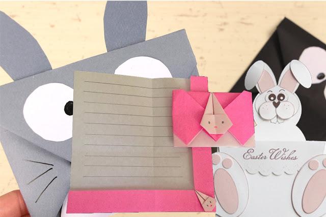 Hướng dẫn cách gấp, xếp lá thư hình con thỏ bằng giấy Origami - How to make an origami Rabbit's Letter