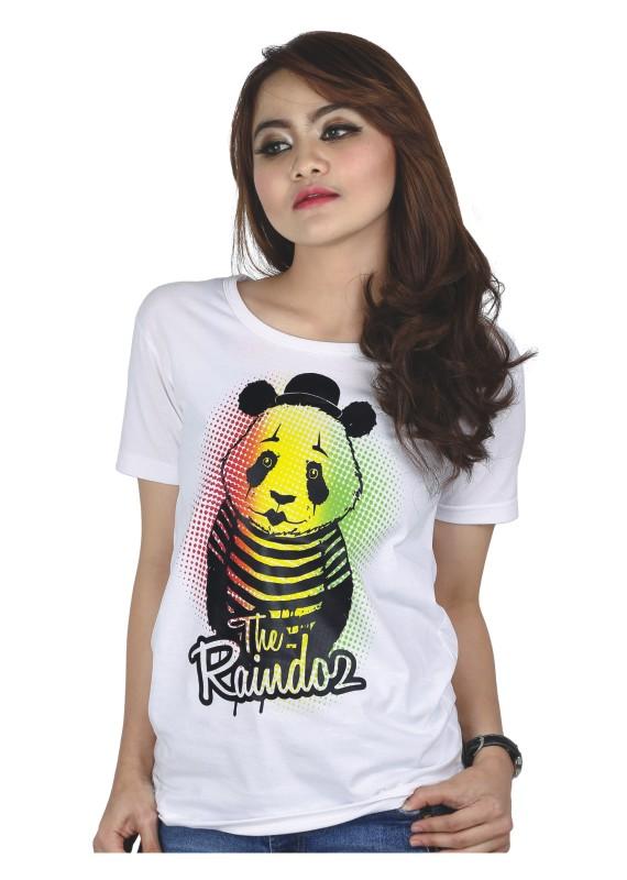 Kaos Wanita Gambar Panda