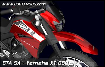 Yamaha XT 600 + Boca 8 para GTA San Andreas , GTA SA