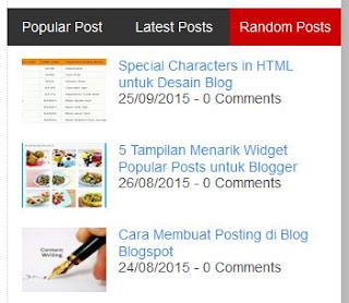 Membuat Random Posts dengan Gambar/Image Thumbnail