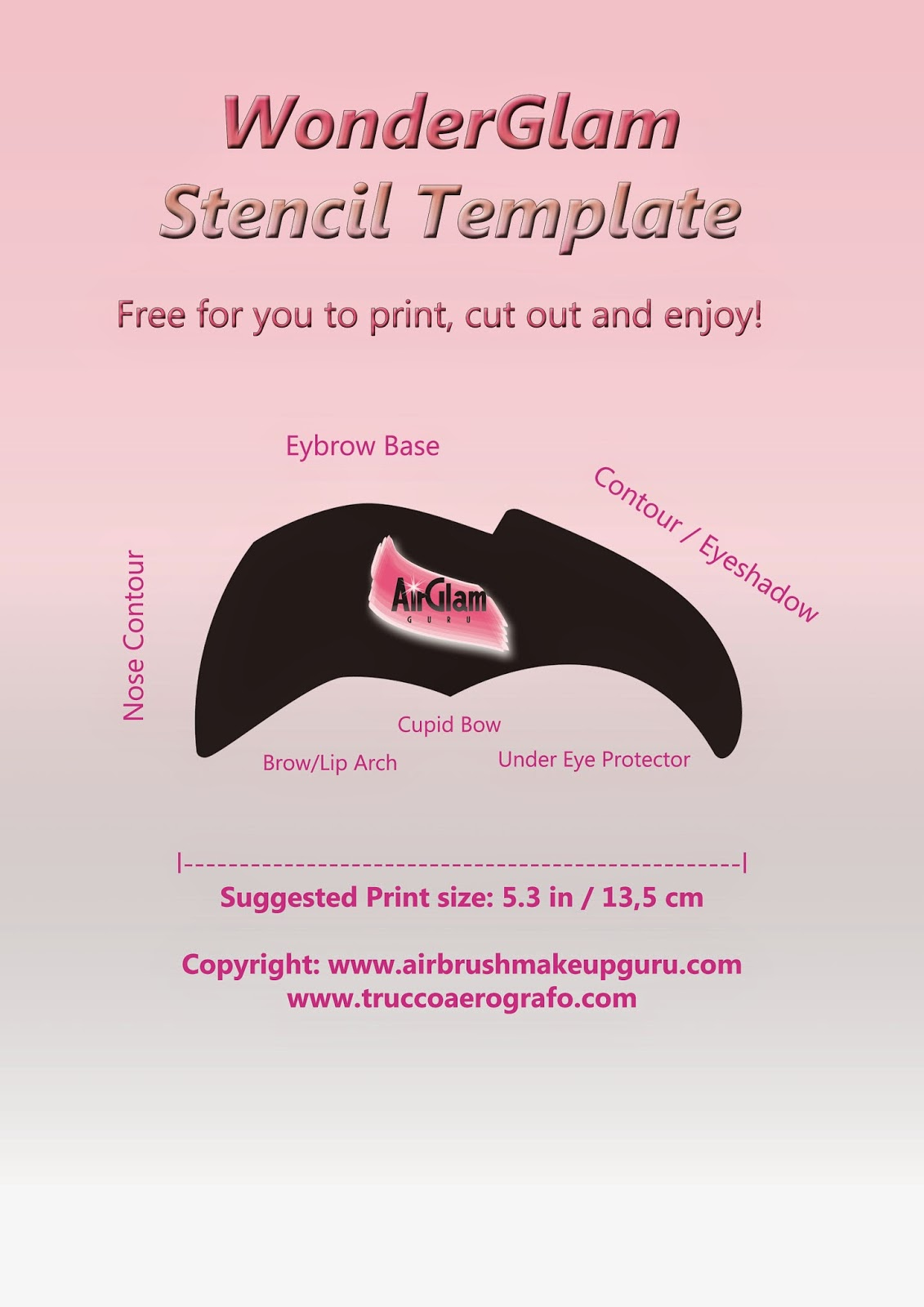 The Airbrush Makeup Guru: FREE STENCIL TEMPLATES