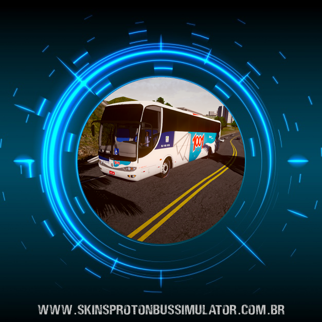 Skin Proton Bus Simulator - G6 1200 MB O-500 RS 4X2 Auto Viação 1001