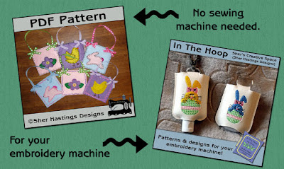 Weekend Freebie - Hand Sanitizer Holder and Easter Treat Bags