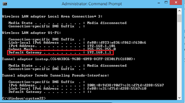 Why Your Computer Home Network is 192.168.1.1 as default gateway 1