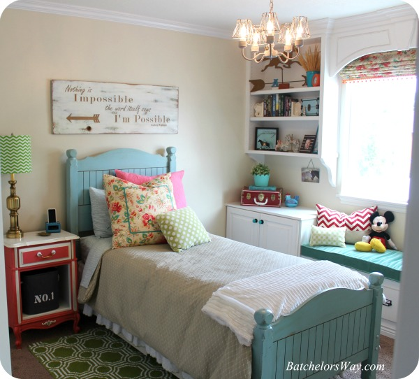 Batchelors way rustic charm room reveal teenage girl for Girls bedroom ideas on a budget
