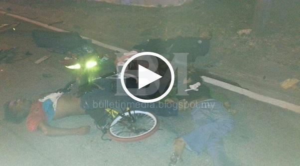 [VIDEO & GAMBAR] Padah Biar Anak Berbasikal Tengah Malam Tujuh Kanak Kanak Maut Dilanggar Kereta