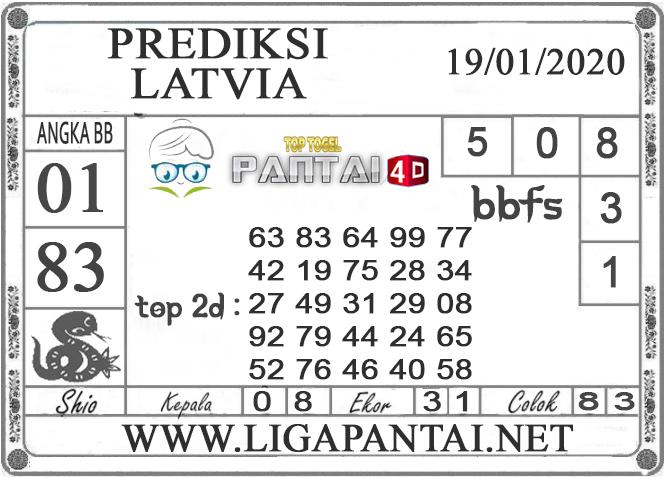 PREDIKSI TOGEL LATVIA PANTAI4D 19 JANUARI 2020