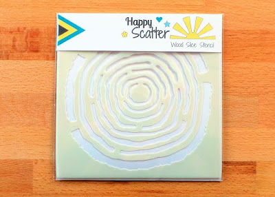 Wood Slice Happy Scatter Stencil