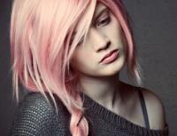 colorazione per capelli rosa
