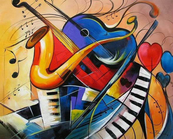 Abstract Music Notes Art: El Arte Es Una Forma De Vida.: El Arte Abstracto