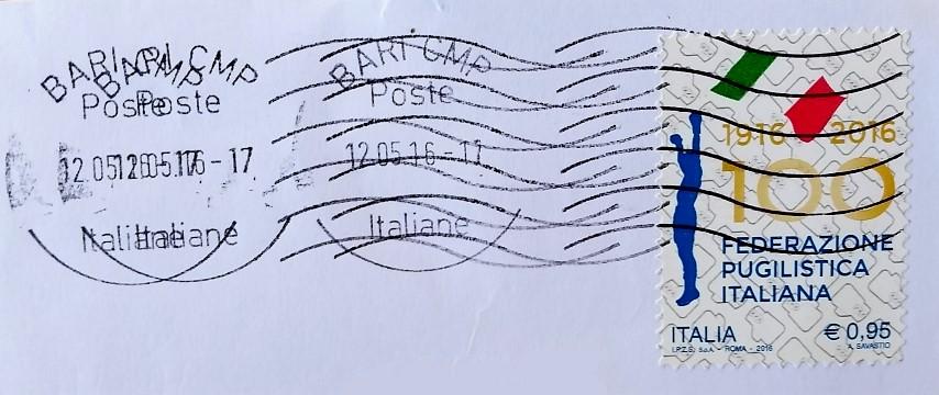 francobollo Federazione Pugilistica Italiana