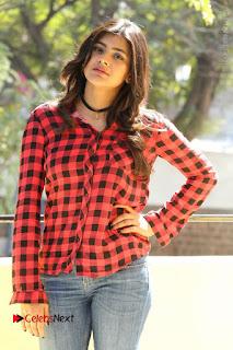 Actress Hebah Patel Stills in Blue Denim Jeans at Nanna Nenu Naa Boyfriends Movie Success Meet  0056.JPG