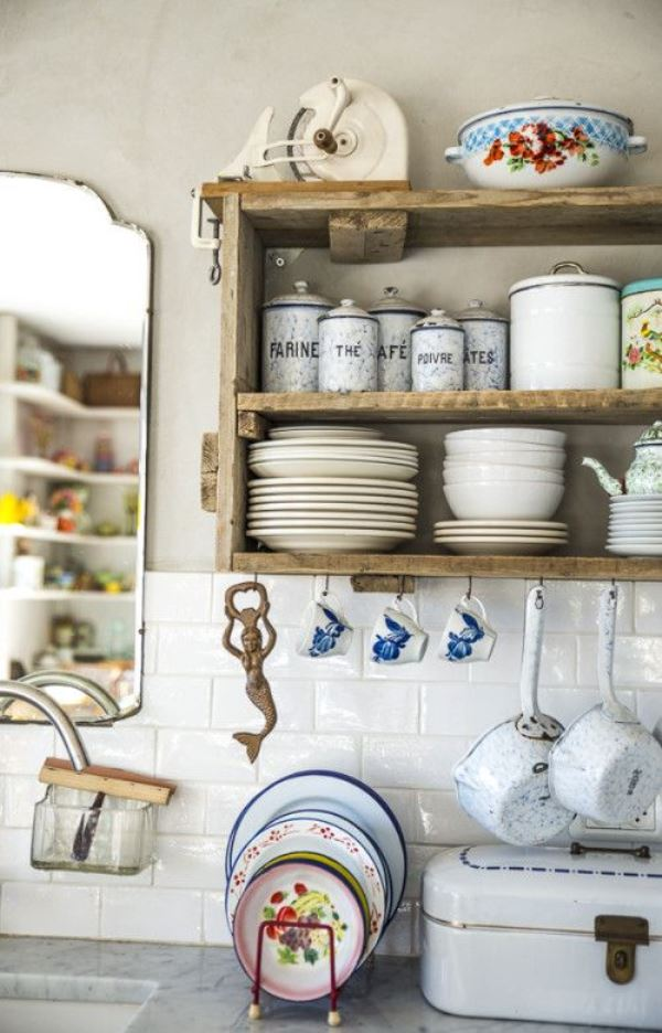 This cheap vintage shabby chic style kitchen design and for Cheap chic home decor