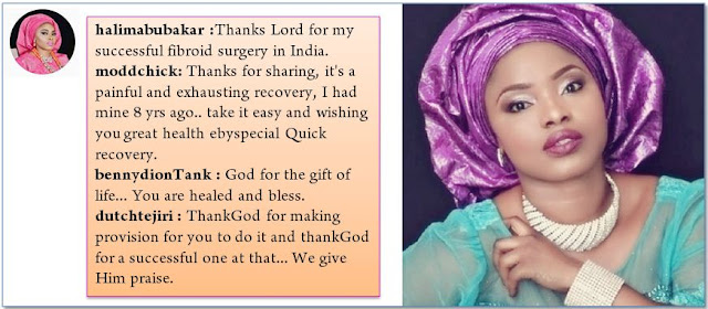 Halima Abubakar undergoes Successful Fibroid Removal Surgery in India