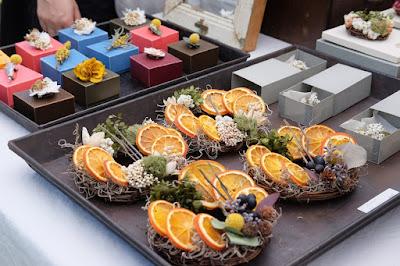 クラフトフェアまつもと2017 「kokageya」植物×古道具 オレンジリース