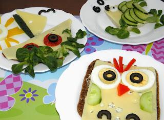 fantazyjne kanapki dla dzieci