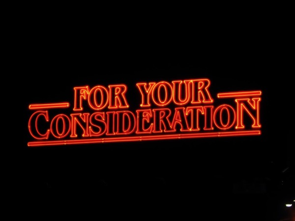Stranger Things For Your Consideration 2017 Emmy neon billboard