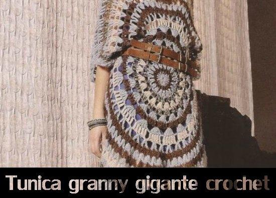 tunicas crochet, grannys gigantes, ganchillo, patrones crochet
