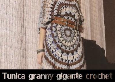 Tunica granny gigante de crochet