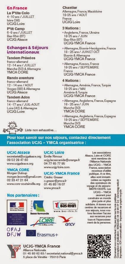 La Brochure Séjours Jeunes 2014 est en ligne