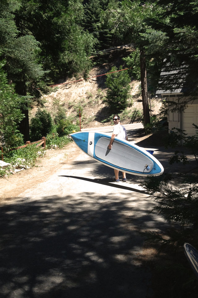 carrying paddle boards