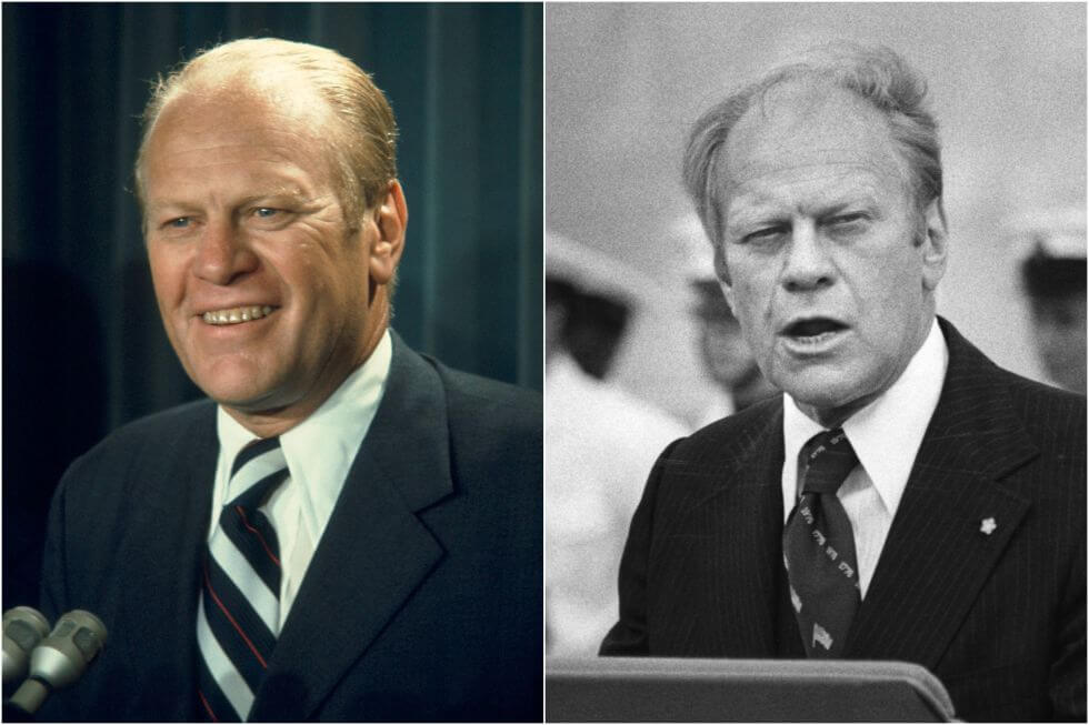 15 Before And After Photos Of US Presidents Depict How Their Job Transformed Them - Gerald Ford (1974-1977)