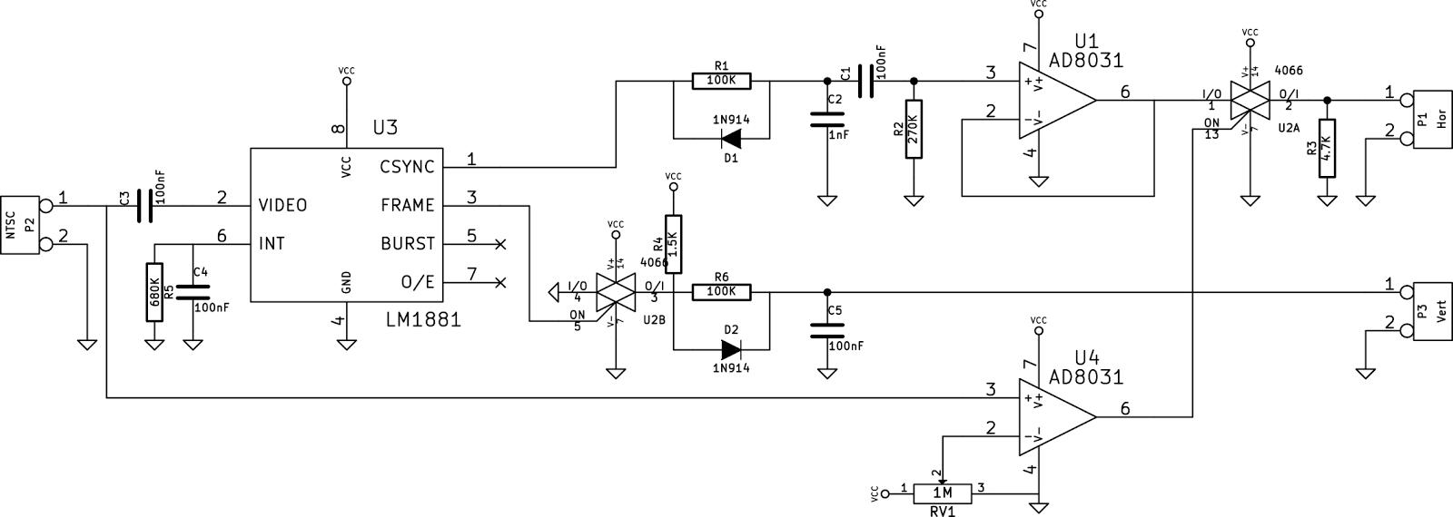 Video Switch Circuit Schematic Diagram