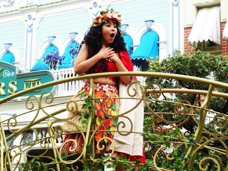 Vaiana presente à la parade des princesses